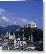 A View Of The City Of Salzburg From An Metal Print by Taylor S. Kennedy