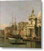 A View Of The Dogana And Santa Maria Della Salute Metal Print by Antonio Canaletto