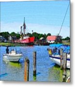 A View Of The Light Ship Metal Print