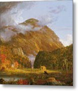A View Of The Mountain Pass Called The Notch Of The White Mountains Metal Print by Thomas Cole