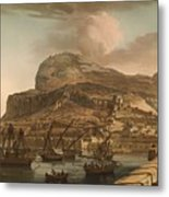 A View Of The Rock Of Gibraltar From The Spanish Lines 1782 Metal Print