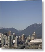 A View Of The Skyline Of Vancouver, Bc Metal Print