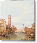A View Of Verona Metal Print by George Clarkson Stanfield