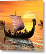 The Vikings Are Coming Metal Print