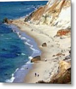 A Walk Along Aquinnah Beach Metal Print