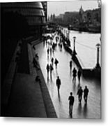 A Walk Along The Thames Metal Print