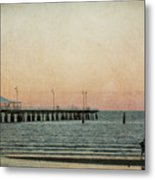 A Walk At Sunset Metal Print