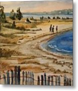 A Walk By The Seashore Metal Print