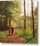 A Walk In The Forest Metal Print by Niels Christian Hansen