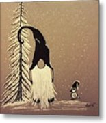 A Walk In The Snow Metal Print by Ginny Youngblood