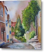 A Walk In The Village Metal Print