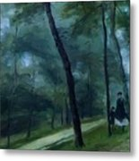 A Walk In The Woods Madame Lecoeur And Her Children 1870 Metal Print