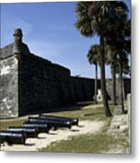 A Wall Of The Castle At San Marcos Metal Print