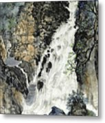 A Waterfall In Quebec Metal Print