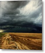 Nature's Watering Of The Crops Metal Print