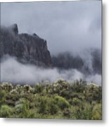 A Wave Of Fog On The Superstitions  Metal Print