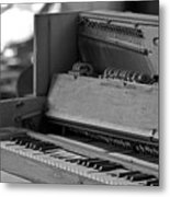 A Weathered Piano Metal Print