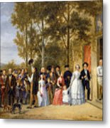 A Wedding At The Coeur Volant Metal Print