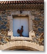 A Whimsical Wall In Lezignan, France Metal Print