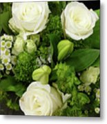 A White Roses Bouquet For You Metal Print