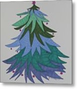 A Wild Christmas Tree Metal Print