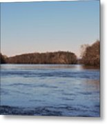 A Windswept River In March Metal Print