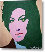A J Winehouse Metal Print