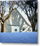 A Winter Holiday At The Farm Metal Print