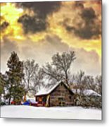 A Winter Sky Metal Print