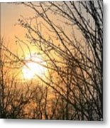 A Winter's Day After Glow Metal Print