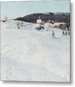 A Winter's Day In Norway Metal Print