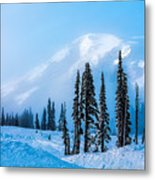 A Wintry Day On Mt Rainier Metal Print