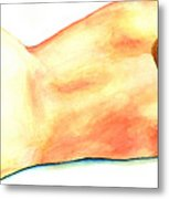 A Woman's Back And Hips Metal Print