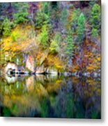 A Yellow Lake Calm Metal Print