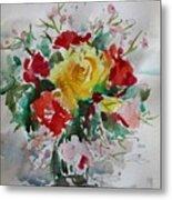 A Yellow Rose Metal Print