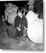 A Young Evacuee Of Japanese Ancestry Metal Print by Stocktrek Images