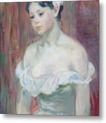 A Young Girl Metal Print by Berthe Morisot