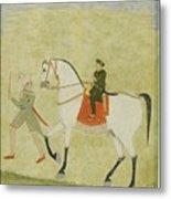 A Young Prince On Horseback Metal Print