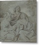 A Youth And Two Girls Singing , Jacob Jordaens Metal Print