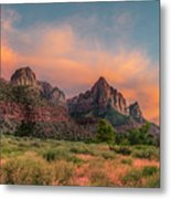 A Zion Sunset Metal Print