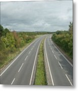 A27 Dual Carriageway Totally Clear Of Traffic. Metal Print