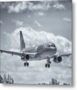 A320 On Approach Metal Print