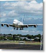 A380 Airbus Plane Landing Metal Print
