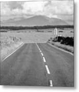A4080 Rural A Road Through Rural Anglesey North Wales Uk Metal Print