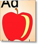 Aa Is For Apple Metal Print