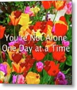 Aa One Day At A Time Metal Print