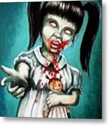 Aaarrgg Thats Zombie Talk For Mommy Metal Print by Al  Molina