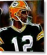 Aaron Rodgers - Green Bay Packers Metal Print