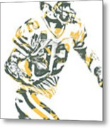 Aaron Rodgers Green Bay Packers Pixel Art 22 Metal Print