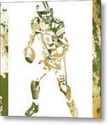 Aaron Rodgers Green Bay Packers Water Color Art 1 Metal Print